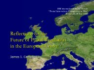 Reflections on the Future of Postal Regulation in the European Union