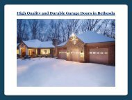 High Quality and Durable Garage Doors in Bethesda