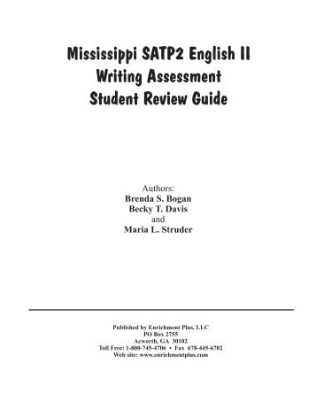 Mississippi SATP2 English II Writing Assessment ... - Enrichment Plus