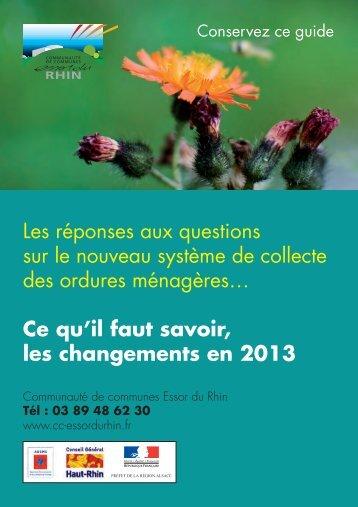 Ce qu'il faut savoir, les changements en 2013 - Communauté de ...