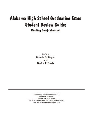 Alabama High School Graduation Exam Student ... - Enrichment Plus