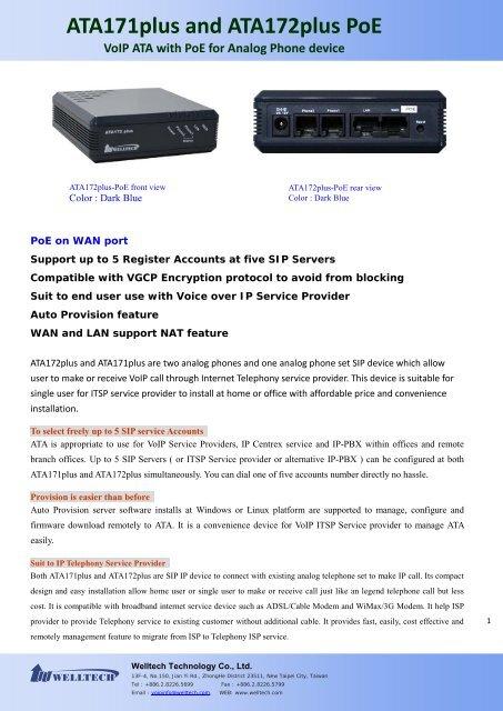 DataSheet - Welltech Computer Co , Ltd