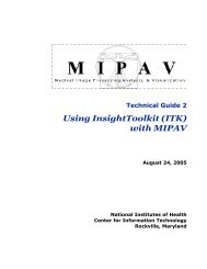 Using InsightToolkit (ITK) with MIPAV - National Institutes of Health