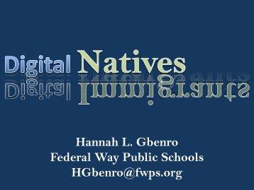 Hannah L. Gbenro Federal Way Public Schools HGbenro ... - wsascd