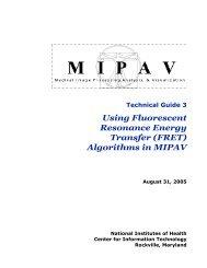Using Fluorescent Resonance Energy Transfer (FRET ... - mipav