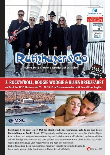 2. rock'n'roll, boogie woogie & blues kreuzfahrt - Cruisecenter AG