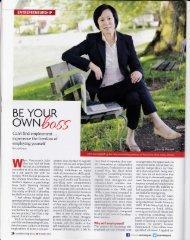 becoming their own boss - Lisa Evans,Freelance Writer