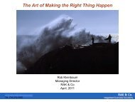 The Art of Making the Right Thing Happen - Decision Analysis ...