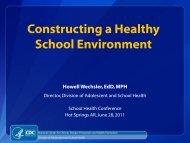 Arkansas Median, 49 States - Arkansas Coordinated School Health