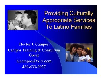 Providing Culturally Appropriate Services To Latino Families