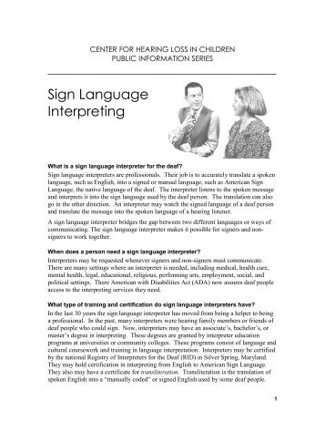 Justification Form for Sign Language Interpreter - LaGuardia ...