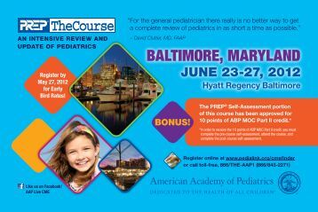 baltimore, maryland - Maryland Chapter American Academy of ...