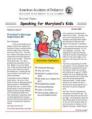 Newsletter volume 5 issue 4 - Maryland Chapter American Academy ...
