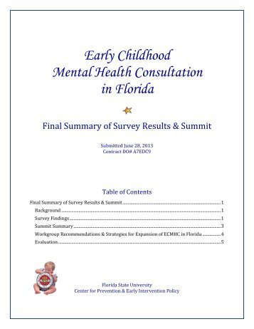 Early Childhood Mental Health Consultation in Florida - Center for ...