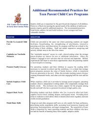 Teen Parent Child Care Quality Improvement Project - Center for ...