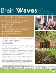 Brain Waves Spring 2011 - Neuroscience Training Program