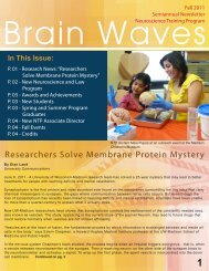 Brain Waves Fall 2011 - Neuroscience Training Program - University ...