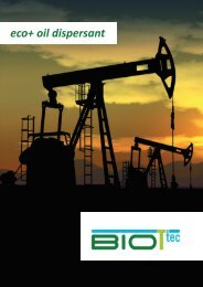 eco+ oil dispersant - Biottec GmbH