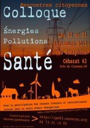 Énergies, pollutions, santé - Collectif des Associations opposées à l ...