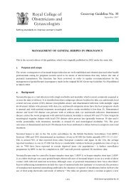 Management of Genital Herpes in Pregnancy - Neonatal Formulary
