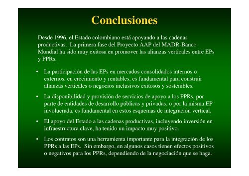 Conclusiones - Cecodes