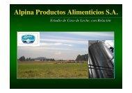 Alpina Productos Alimenticios S.A. - Cecodes