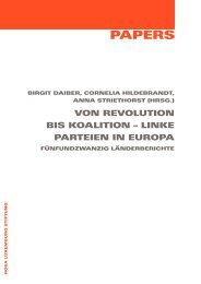 Von Revolution bis Koalition - Rosa Luxemburg Foundation Brussels