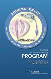 2012 Program Book - Association for Chemoreception Sciences