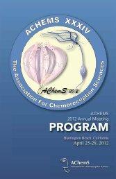 PROGRAM - Association for Chemoreception Sciences
