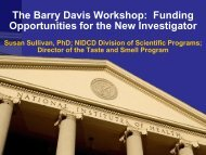The Barry Davis Workshop: Funding Opportunities for the New ...