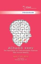 Annual Meeting Program - Association for Chemoreception Sciences