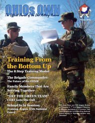 The Official Journal of the Ohio Military Reserve