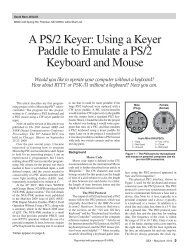 A PS/2 Keyer: Using a Keyer Paddle to Emulate a PS/2 Keyboard ...