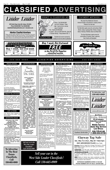 CLASSIFIED ADVERTISING - Akron.com