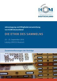 DIE ETHIK DES SAMMELNS - ICOM Deutschland