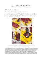 Warren Siebrits & The Art of Collecting 2015 June|Wayne Barker