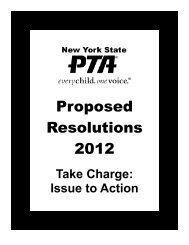 Proposed Resolutions 2012 - New York State PTA