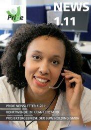 ersten Ausgabe des PRIDE-Newsletters