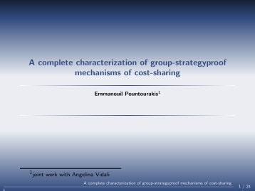 A complete characterization of group-strategyproof ... - Corelab