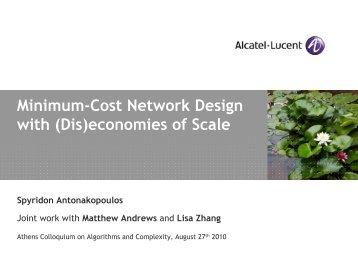 Minimum-Cost Network Design with (Dis)economies of ... - Corelab