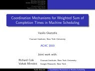 Coordination Mechanisms for Weighted Sum of Completion Times in ...