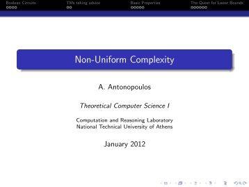Non-Uniform Complexity - Corelab
