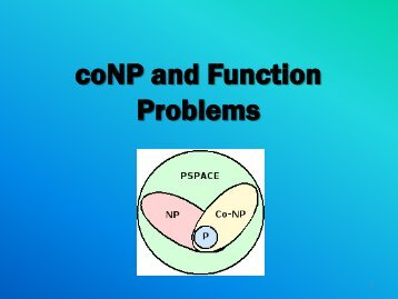 coNP and Function Problems - Corelab