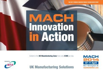 Download the UK Manufacturing Zone Brochure (pdf) - MACH 2014