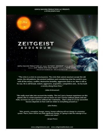 download press kit - Zeitgeist