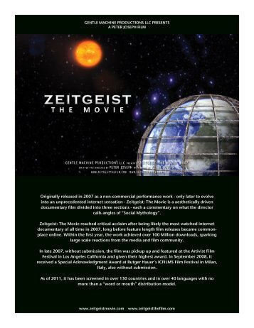 download press kit - Zeitgeist