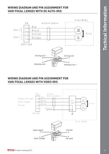 wiring diagram and pin assignment for lenses fixed pentax techical information wiring diagram and pin security systems