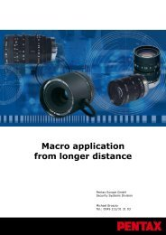 Macro application from longer distance - Security Systems - Pentax