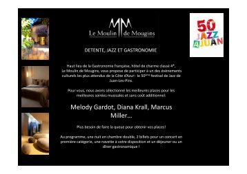 Melody Gardot, Diana Krall, Marcus Miller… - moulin de mougins