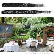 la petite histoire gastronomique et artistique - moulin de mougins